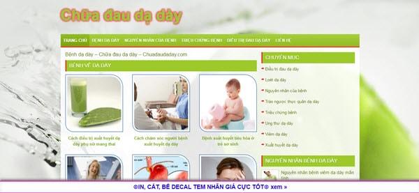 Chữa bệnh đau dạ dày - chuadaudaday.com