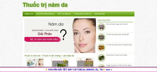 Thuốc trị nám da - thuoctrinamda.com
