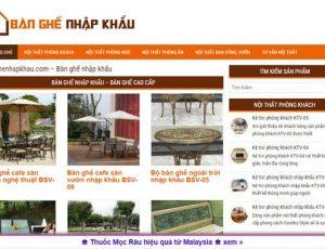 Bàn ghế nhập khẩu - banghenhapkhau.com