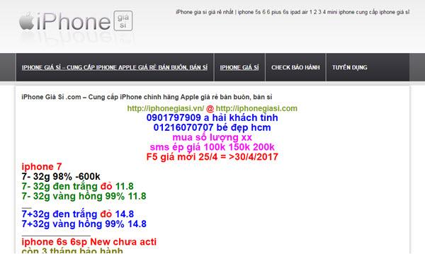 iPhone Giá Sỉ – iphonegiasi.com