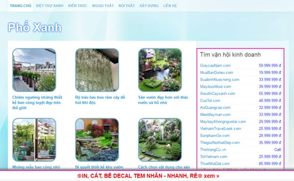 Phố xanh - phoxanh.com