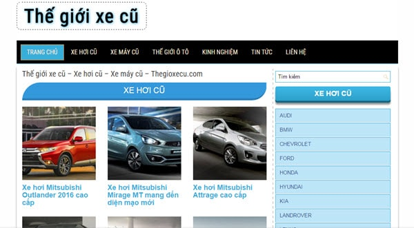 Thế giới xe cũ – thegioixecu.com